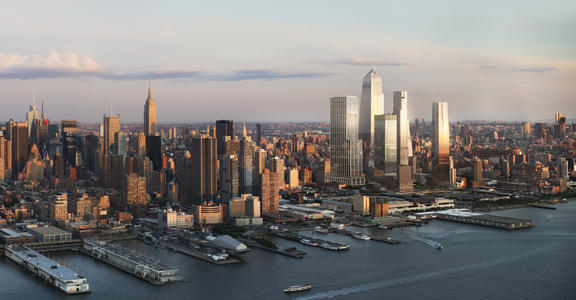 Overall Hudson Yards from the Hudson River