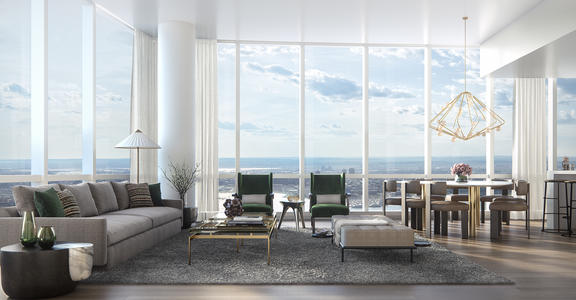 15 Hudson Yards Living Room