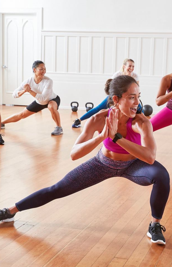 women working out at athleta